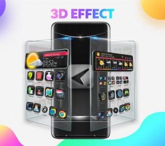 اسکرین شات برنامه CM Launcher 3D - Themes, Wallpapers 7