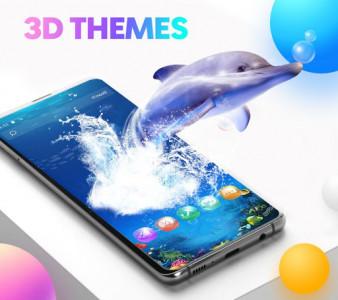 اسکرین شات برنامه CM Launcher 3D - Themes, Wallpapers 5