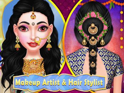 اسکرین شات برنامه Stylist Fashion Indian Wedding Games for Girls 3