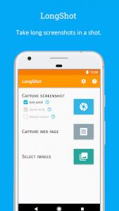 اسکرین شات برنامه LongShot for long screenshot 1