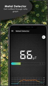 اسکرین شات برنامه Metal & Gold Detector with Sound and Vibration 4