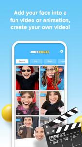 اسکرین شات برنامه JokeFaces - Funny Video Maker 1