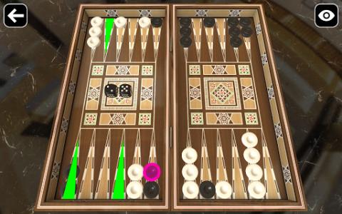 اسکرین شات بازی Original Backgammon 4