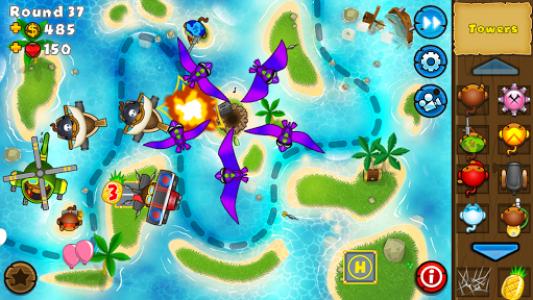 اسکرین شات بازی Bloons TD 5 2