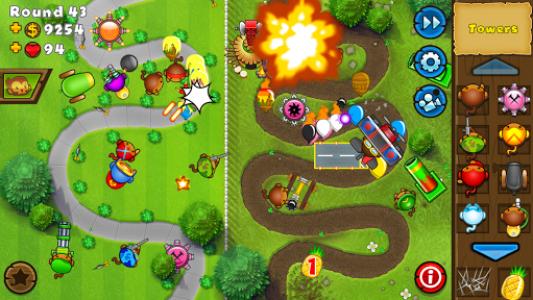 اسکرین شات بازی Bloons TD 5 4