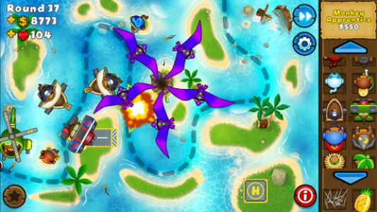 اسکرین شات بازی Bloons TD 5 7