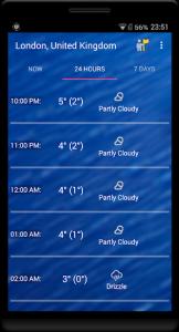 اسکرین شات برنامه Weekly Weather Forecast 2