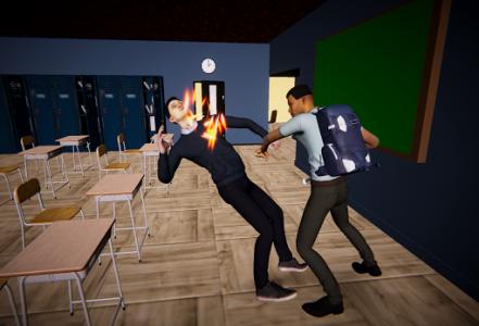 اسکرین شات بازی Bad Guys Fight at School 1