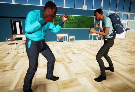 اسکرین شات بازی Bad Guys Fight at School 4