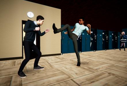 اسکرین شات بازی Bad Guys Fight at School 2