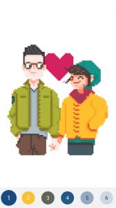 اسکرین شات برنامه UNICORN - Color By Number & Pixel Art Coloring 5
