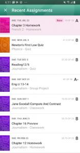 اسکرین شات برنامه PowerSchool Mobile 6