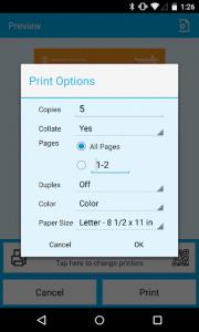 اسکرین شات برنامه PrinterOn 3