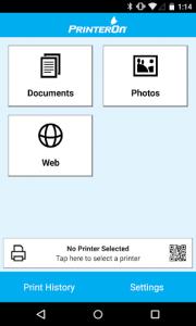 اسکرین شات برنامه PrinterOn 1