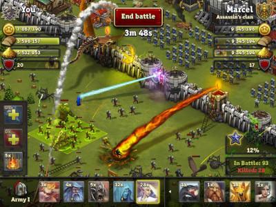 اسکرین شات بازی Throne Rush 1