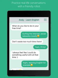 اسکرین شات برنامه Andy - English Speaking Bot 7