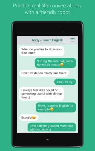 اسکرین شات برنامه Andy - English Speaking Bot 4