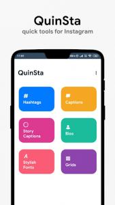 اسکرین شات برنامه QuinSta : Quick Tools for Instagram 1