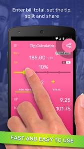 اسکرین شات برنامه Tip Calculator & Bill Split 3