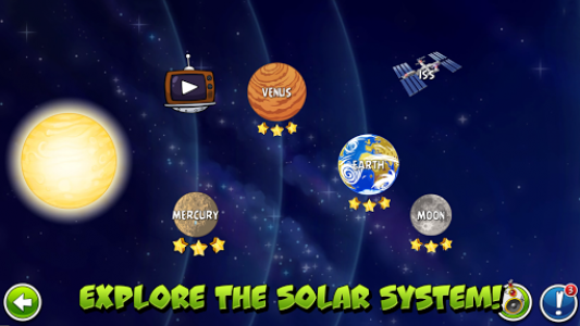 اسکرین شات بازی Angry Birds Space 1