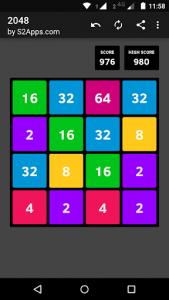 اسکرین شات بازی 2048 1