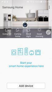 اسکرین شات برنامه Samsung Smart Home 1