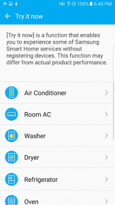 اسکرین شات برنامه Samsung Smart Home 4