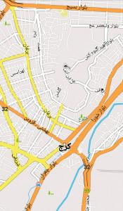 اسکرین شات برنامه نقشه آفلاین کرج و حومه 1