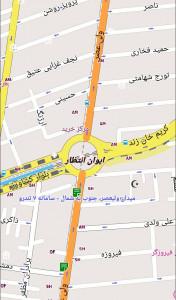 اسکرین شات برنامه نقشه آفلاین تهران 1