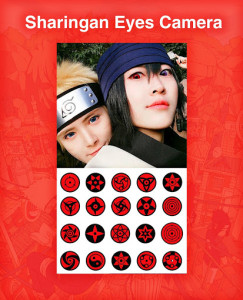 اسکرین شات برنامه Sharingan Eyes Camera - Anime Photo Editor 1