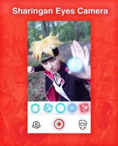 اسکرین شات برنامه Sharingan Eyes Camera - Anime Photo Editor 5