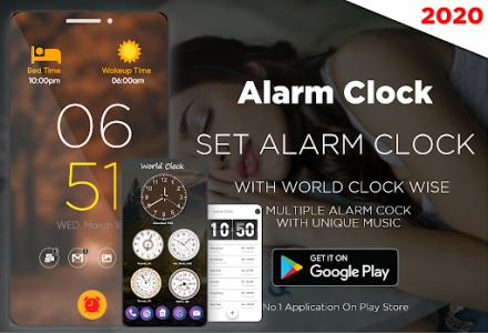 اسکرین شات برنامه Smart Alarm Clock for Free – Loud Alarm Music 1