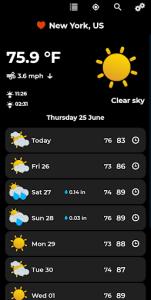 اسکرین شات برنامه Weather Forecast 2