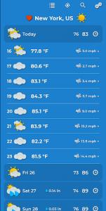 اسکرین شات برنامه Weather Forecast 4