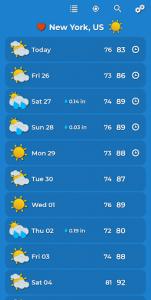 اسکرین شات برنامه Weather Forecast 3