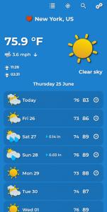 اسکرین شات برنامه Weather Forecast 1