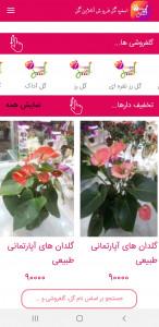 اسکرین شات برنامه خرید آنلاین گل 3