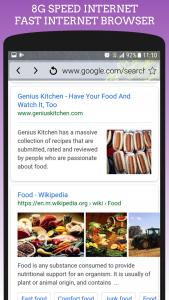 اسکرین شات برنامه 8G Fast Internet Browser - High Speed Up Internet 3
