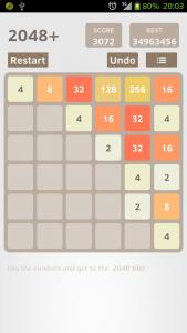 اسکرین شات بازی 2048 Plus 1