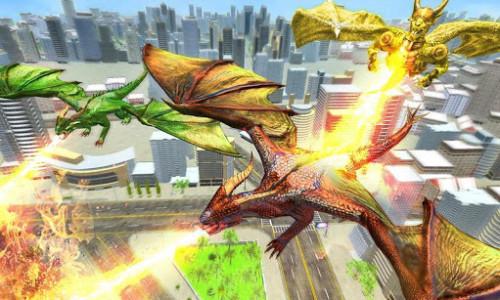 اسکرین شات برنامه Ultimate Dragon Robot Transform Battle War Game 1