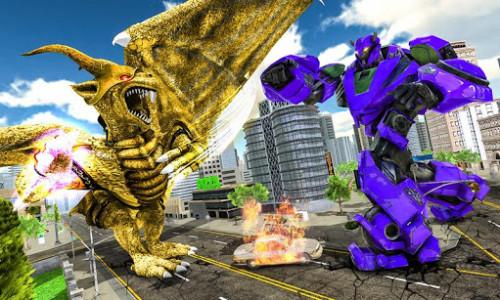 اسکرین شات برنامه Ultimate Dragon Robot Transform Battle War Game 5