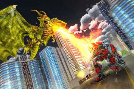 اسکرین شات برنامه Ultimate Dragon Robot Transform Battle War Game 8