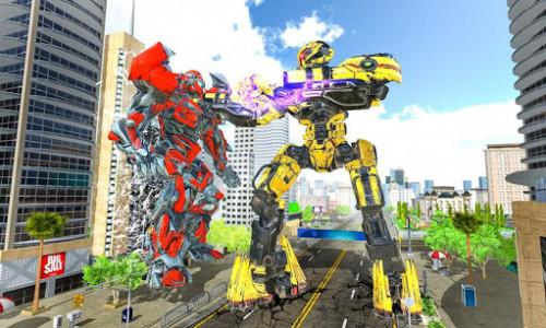 اسکرین شات برنامه Ultimate Dragon Robot Transform Battle War Game 2