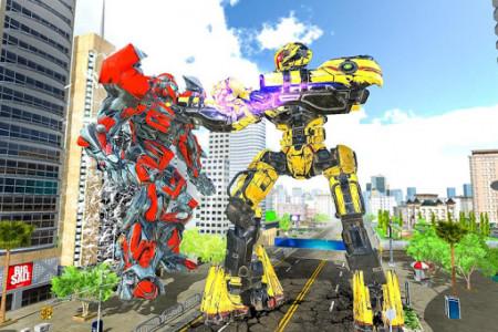 اسکرین شات برنامه Ultimate Dragon Robot Transform Battle War Game 7