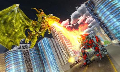 اسکرین شات برنامه Ultimate Dragon Robot Transform Battle War Game 3