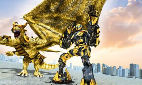 اسکرین شات برنامه Ultimate Dragon Robot Transform Battle War Game 4
