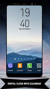 اسکرین شات برنامه Galaxy Note8 Digital Clock Widget 2