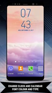 اسکرین شات برنامه Galaxy Note8 Digital Clock Widget 4
