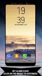 اسکرین شات برنامه Galaxy Note8 Digital Clock Widget 3