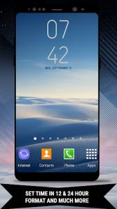 اسکرین شات برنامه Galaxy Note8 Digital Clock Widget 5